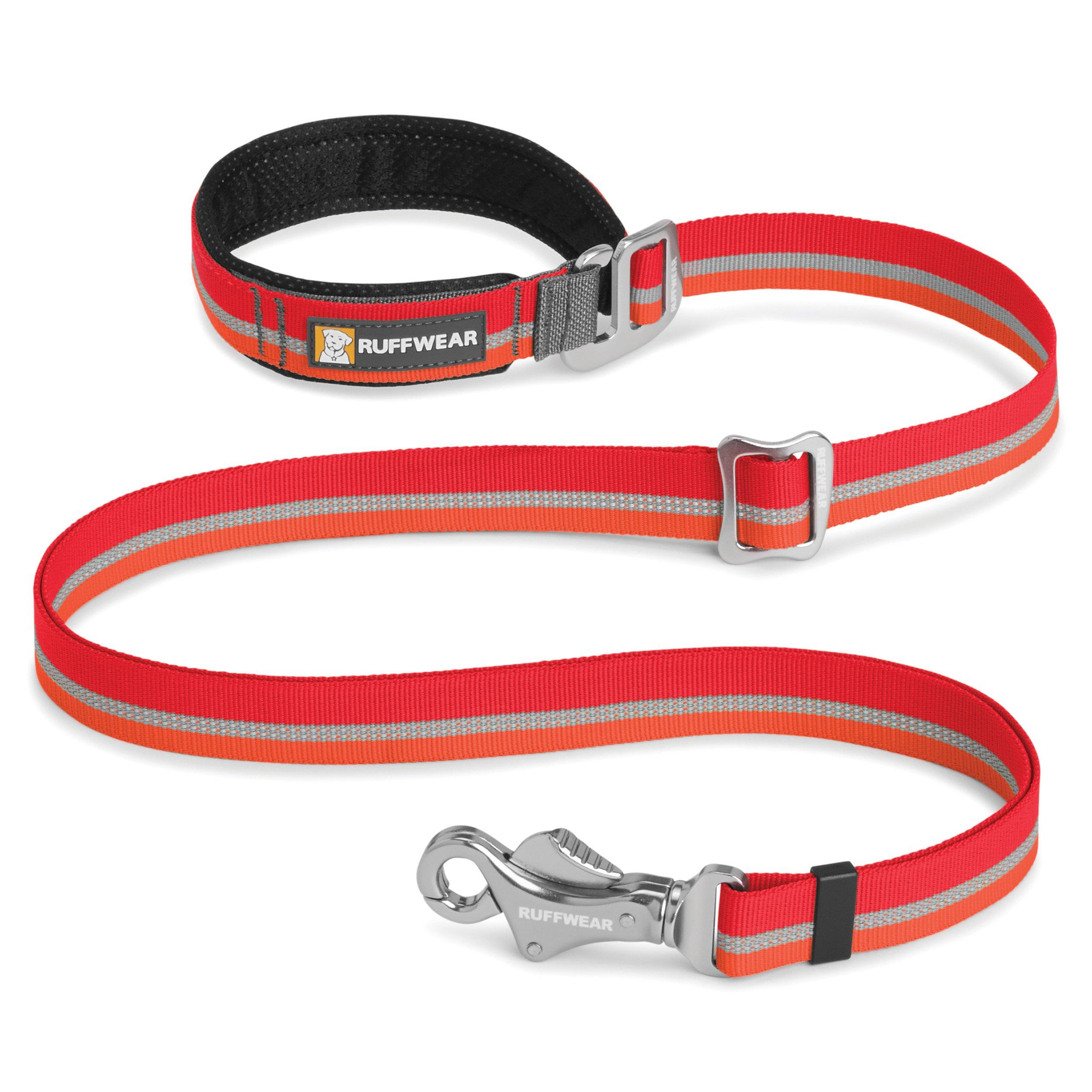 RUFFWEAR - Slackline Adjustable Length, Hand-Held or Waist-Worn Dog Leash, Kokanee Red