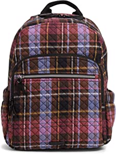 Vera Bradley womens Signature Cotton Campus Backpack Bookbag, Cozy Plaid, One Size US