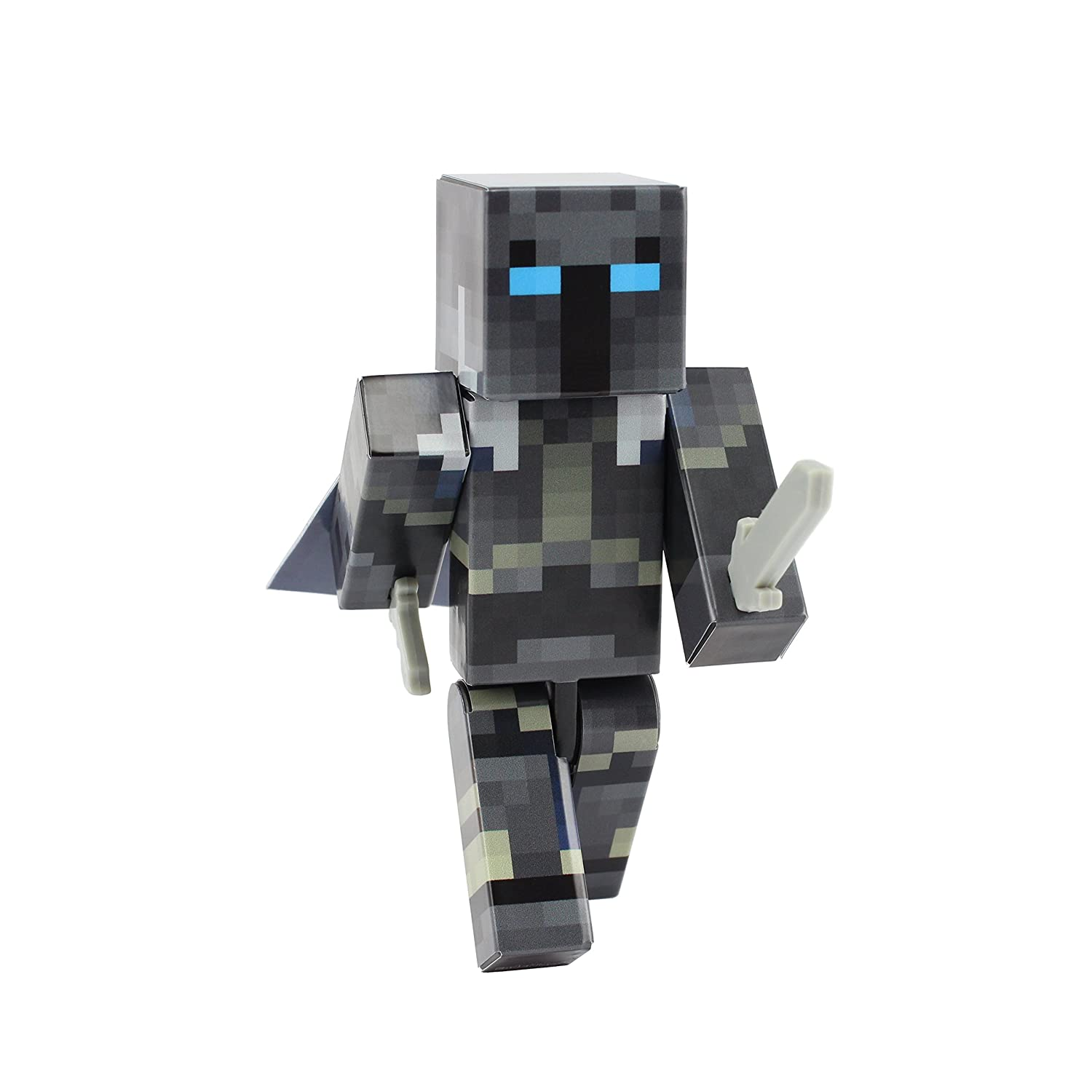 EnderToys Iron Armor Crusader Action Figure Toy, 4 Inch Custom Series  Figurines, [Not an Official Minecraft Product]