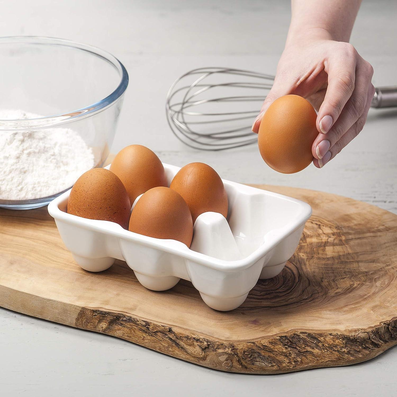 frigor/ífico Bandeja de 6 tazas para servir huevos juego de soporte para cocina dispensador de huevos Airmoon accesorio decorativo restaurante azul