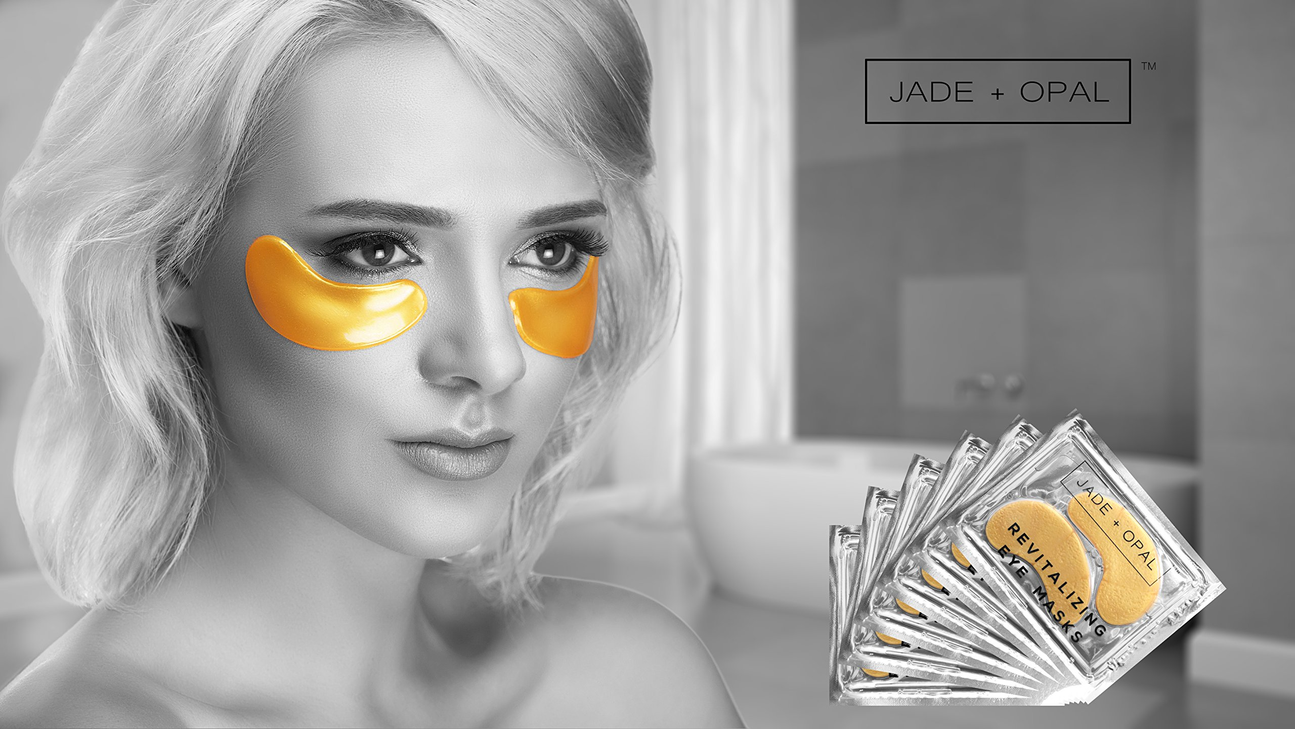 Jade and Opal Gold Collagen Revitalizing Eye Mask, 20 Pairs (Pack of 1) by Jade and Opal (Image #5)