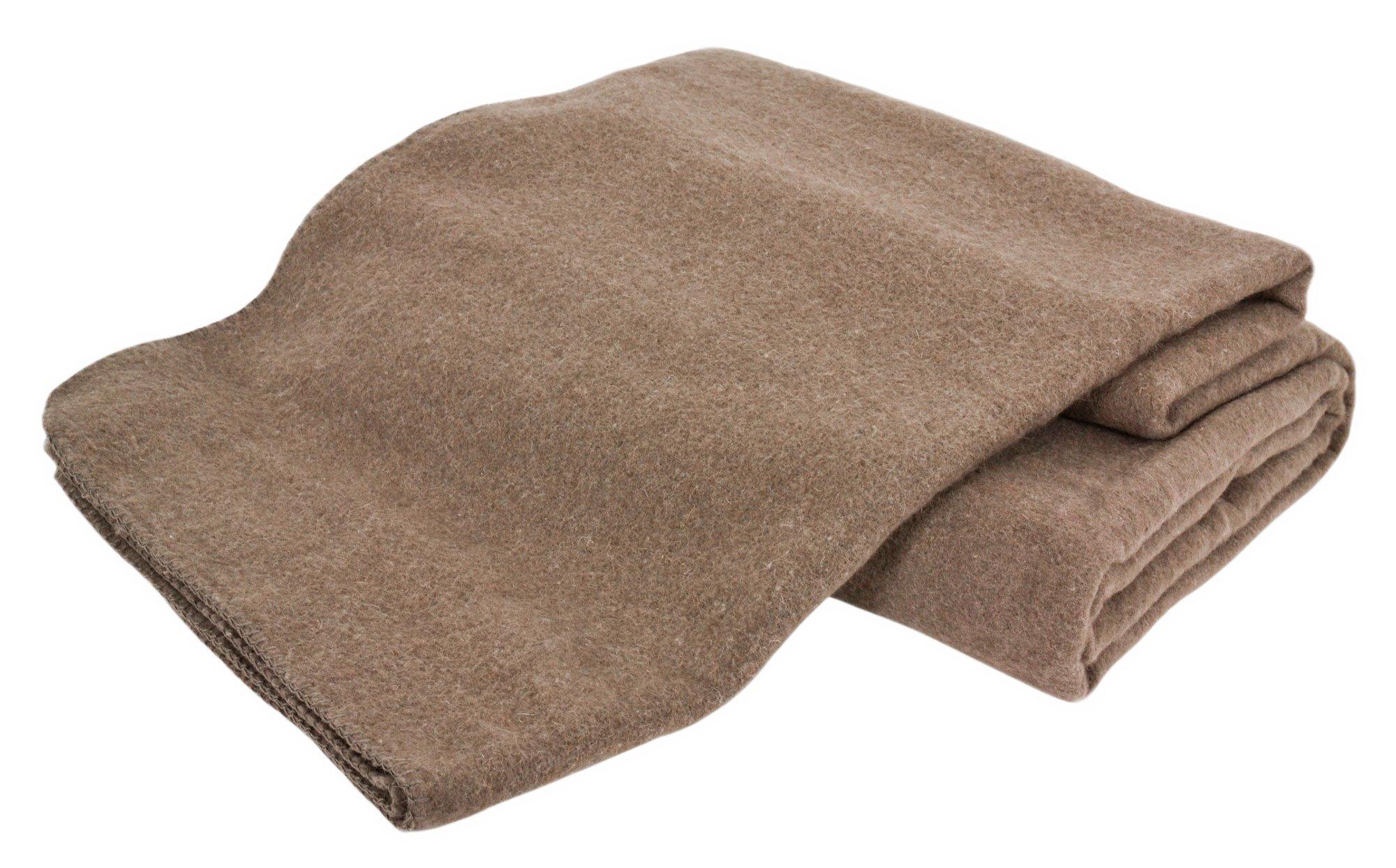 Creswick Australian Mills Hobart Machine Washable Australian Wool Blend Blanket, King, Hazel