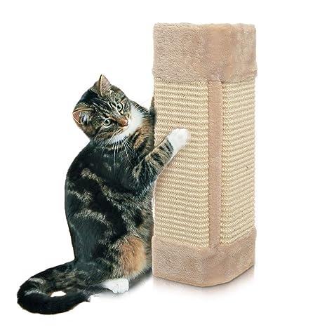 Rascador esquinero de pared para gato
