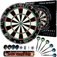Dart Board Stalen Dart Board Dartboard set met 6 stuks 20 g Stalen Tip Darts 12 Vluchten Roterende Nummer Ring…