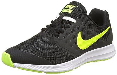hot sale online 3bd88 696e2 Nike Downshifter 7 GS, Chaussures de Running Fille, Noir (Black Volt