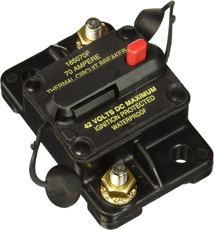 1-Pack One Per Box Bussmann CB185-70 70 Type Iii Flush Mount Switchable//Manual High Amp Circuit Breaker 30Vdc