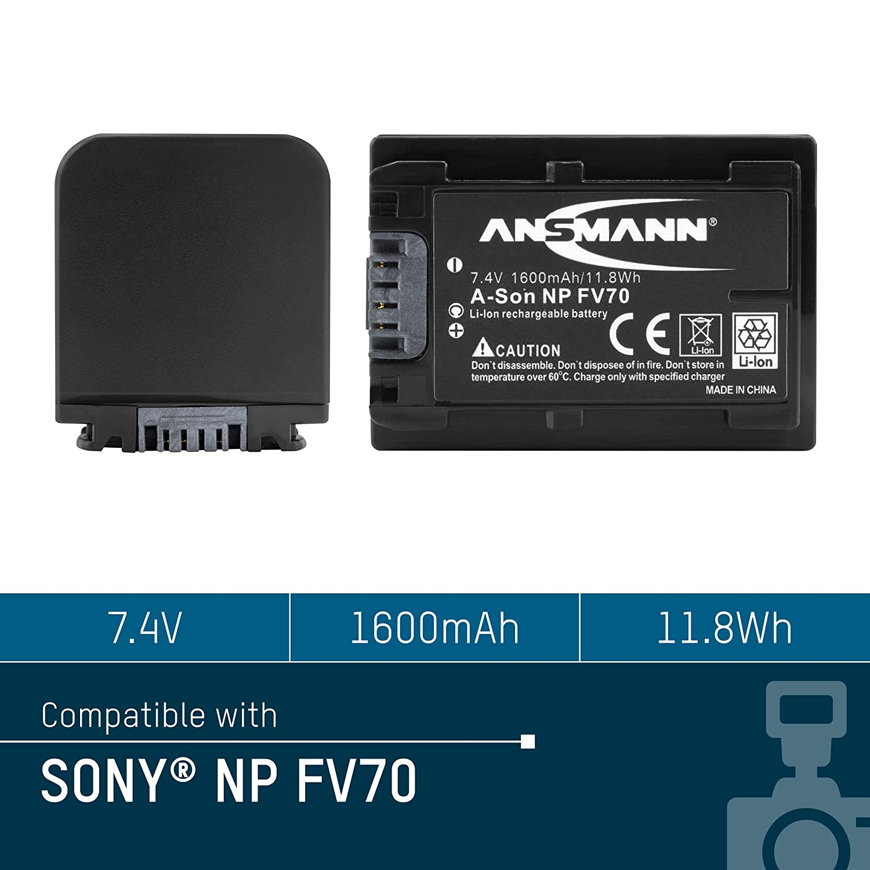 ANSMANN 1400-0009 A-Son Np Bn 1 Batteria Li-Ion Digicam 3,7V//600Mah per Fotocamere Digitali Sony