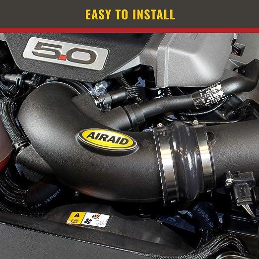 AirAid Engine Cold Air Intake Tube 200-996; Black High-Density Polyethylene