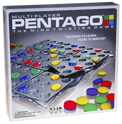 PENTAGO Mind Twister Board Game Kids Adults Intelligent Education Toy Xmas Gift