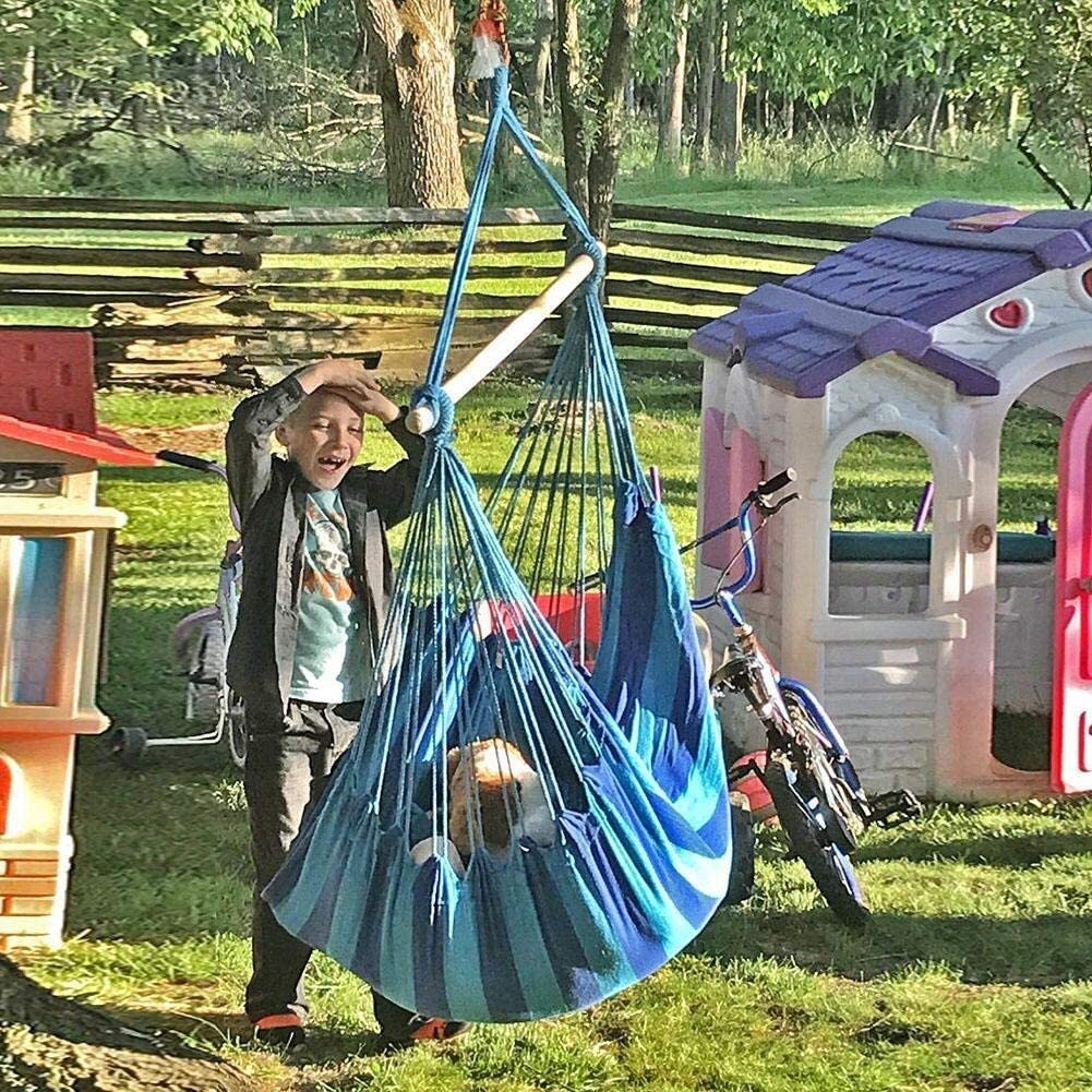Shanyaid Camping Hammock Lit Suspendu de Jardin Suspendu si/ège de Chaise doscillation de Chaise de Corde de balan/çoire avec 2 oreillers