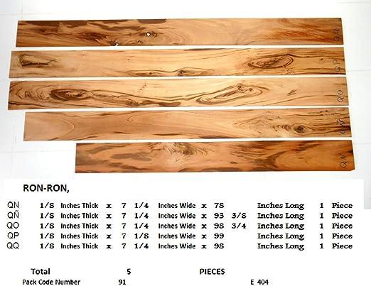 5 piezas de Goncalo Alves tigre chapa de madera para ...
