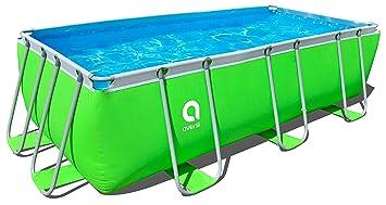 Relativ Jilong Pool rechteckig mit Rahmen 400x200x99 cm grün: Amazon.de TR36