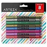 Amazon Price History for:Arteza Wine Glass Metallic Markers - Pens (Set of 8)