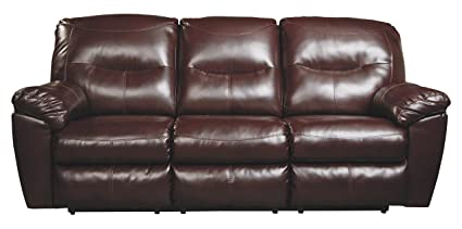Genial Ashley Furniture Signature Design   Kilzer DuraBlend Reclining Sofa    Contemporary Reclining Couch   Mahogany