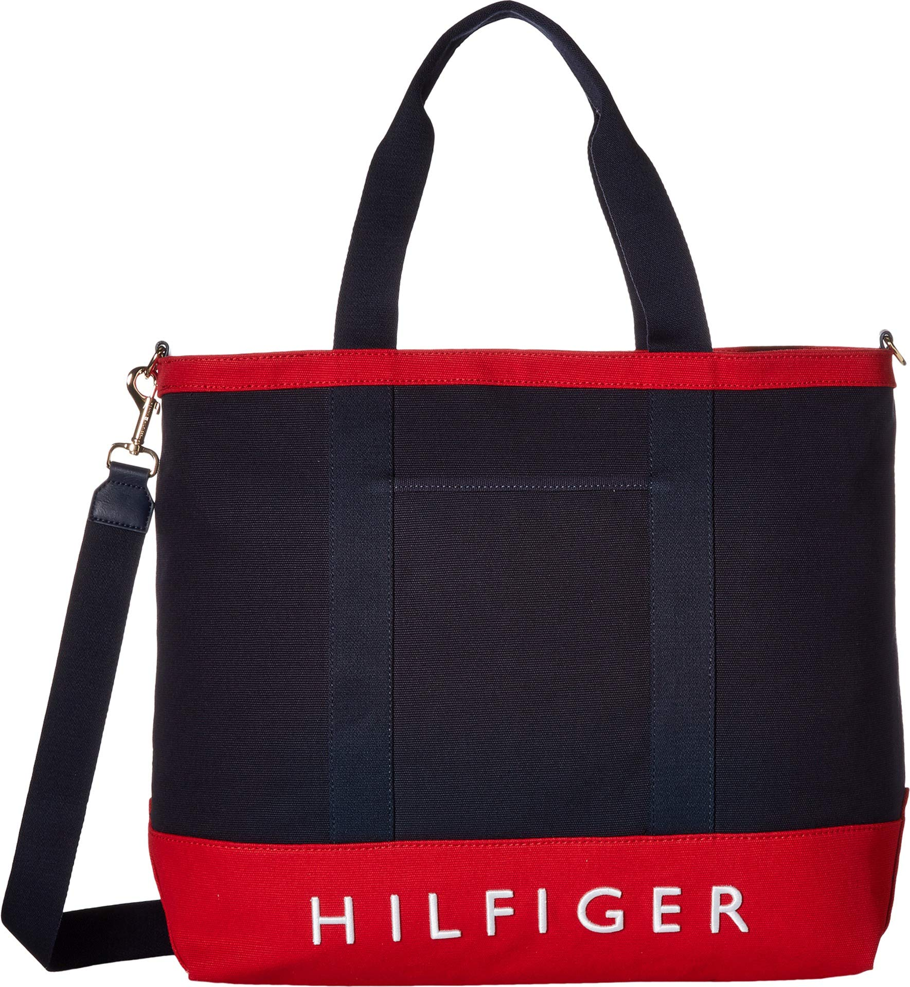 Tommy Hilfiger Women's Sporty Signature North/South Tote Tommy Navy/Red One Size