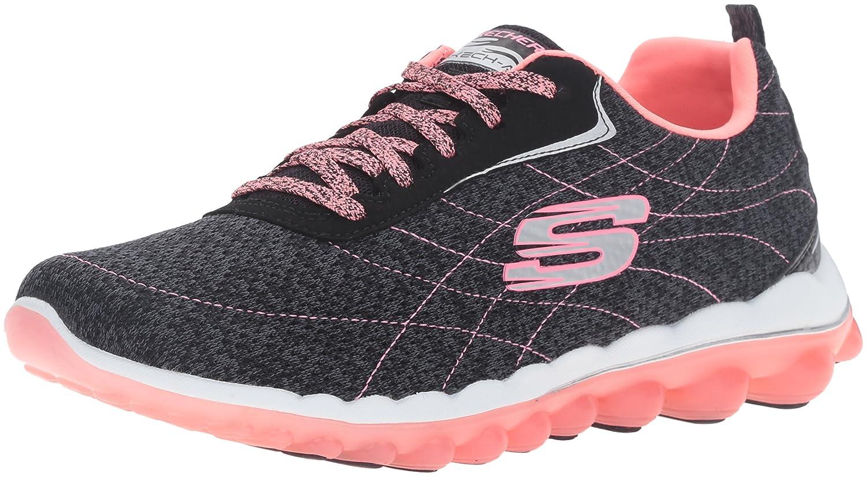 Skechers Sketch Air Sz 2 Y Youth Sz 4 Women's Pink Black Athletic Walking Shoes
