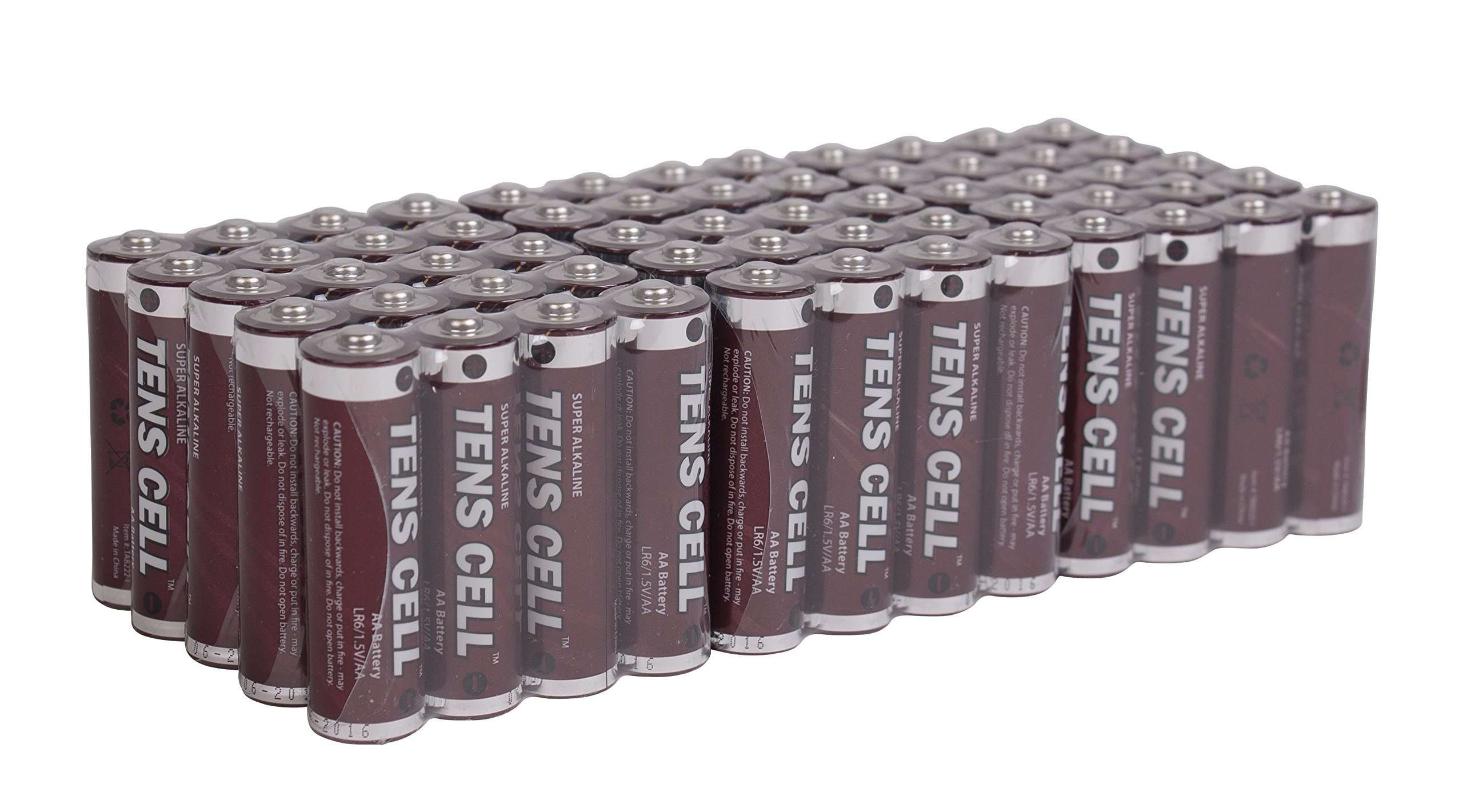 Premium Double A Batteries, Long Lasting AA Batteries, Alkaline, 60 Pack, 1.5V