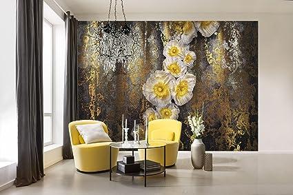 komar 8 963 serafina flower floral wallpaper mural, yellow, 368 xkomar 8 963 serafina flower floral wallpaper mural, yellow, 368 x 254 cm