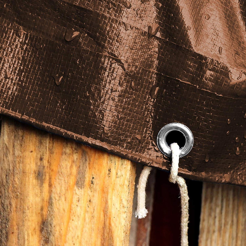 Extremadamente resistente Muchos colores y tama/ños Con ojales Marr/ón//Plateada 240g//m/² Toldos impermeables exterior casa pura Lona impermeable 4x6