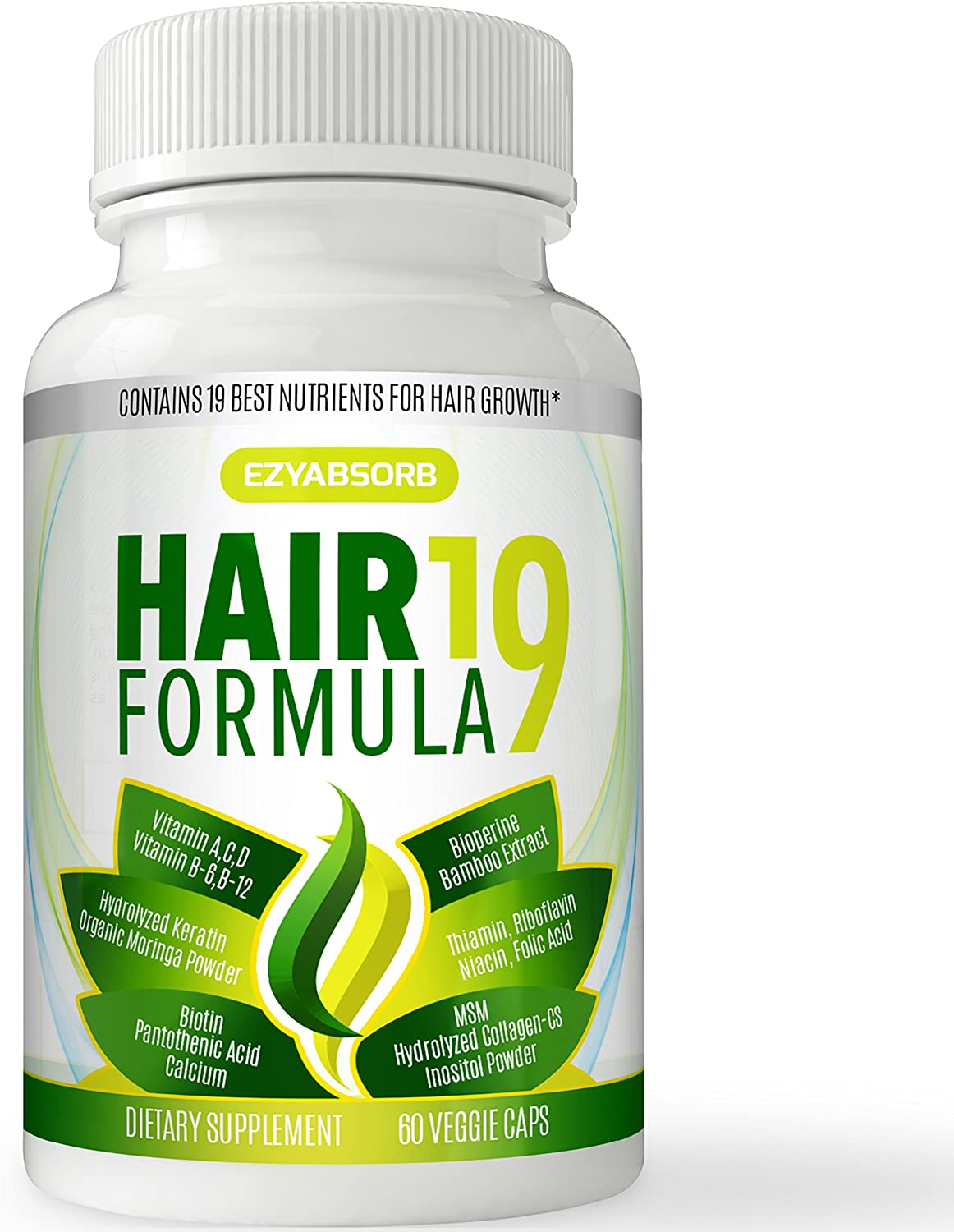 Amazon.com: EzyAbsorb Hair Vitamins - Scientifically Formulated to Nourish  Hair Follicles & Scalp for Thinning Hair, Faster New Hair Growth. Contains Hair  Growth Herbals for Longer, Stronger, Thicker Hair: Health & Personal