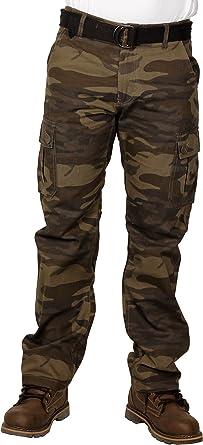Amazon Com Royal Blue De Los Hombres Premium De Sarga Camuflaje Pantalones Cargo Oliva Camuflado Clothing