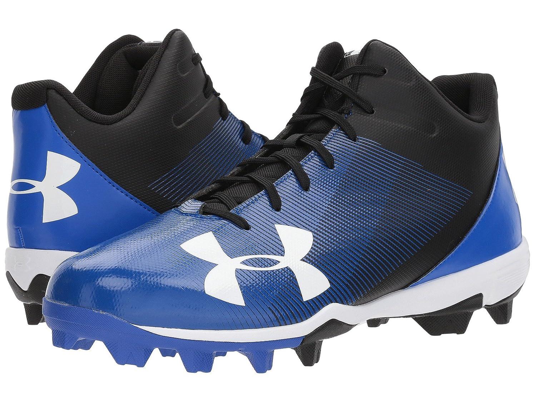 (アンダーアーマー) UNDER ARMOUR メンズ野球ベースボールシューズ靴 UA Leadoff Mid RM Black/Team Royal 9.5 (27.5cm) D Medium B07C13P7B9