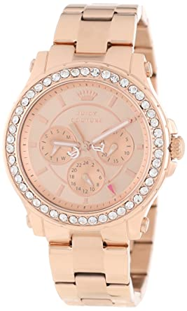 Amazoncom Juicy Couture Womens 1901050 Pedigree Rose Gold Plated