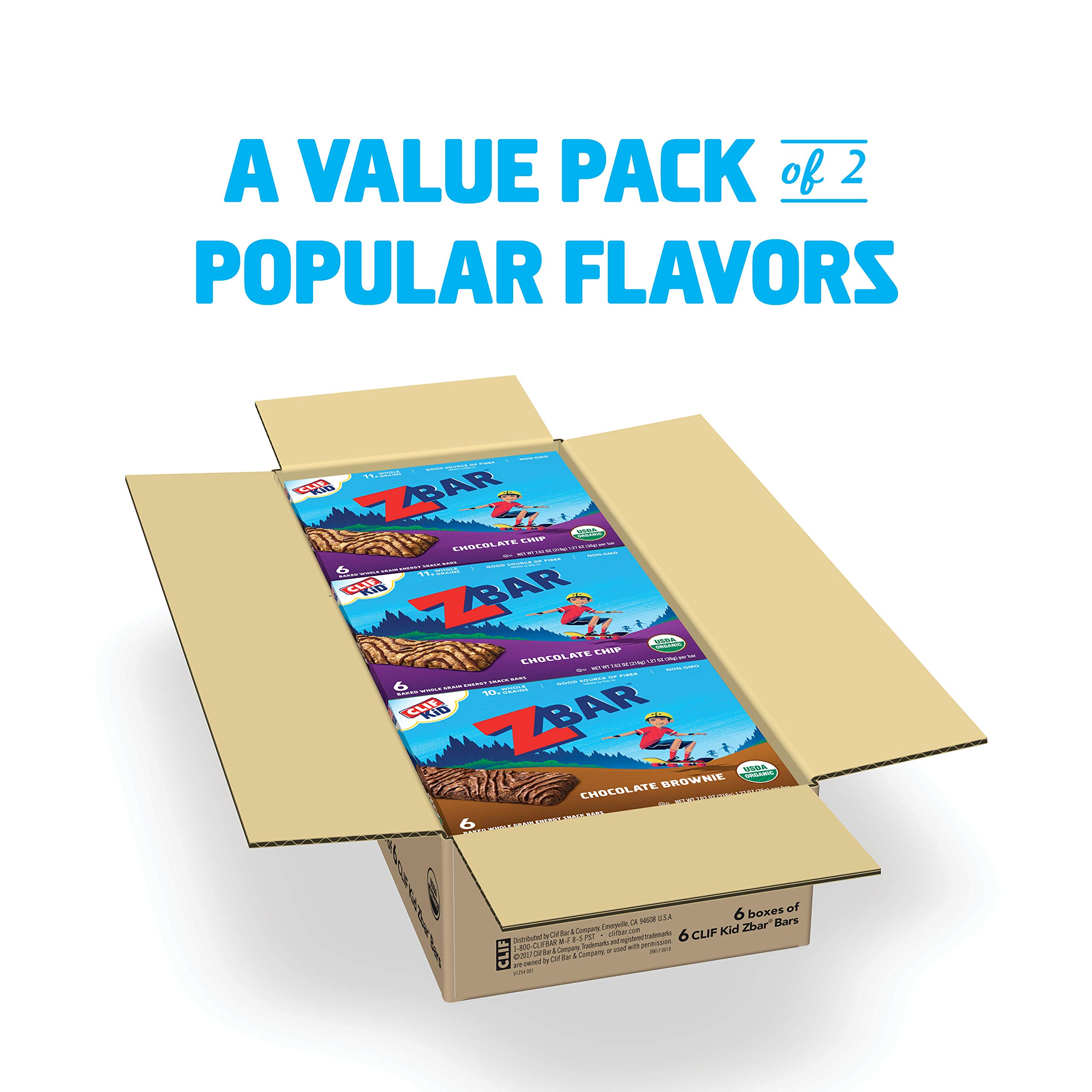 Clif Kid ZBAR - Organic Energy Bars - Value Pack - (1.27 Ounce Snack Bars, 36 Count) by Clif Bar (Image #2)