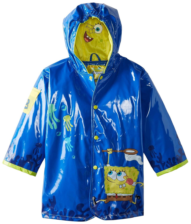 Kidorable Little Boys' Spongebob Squarepants All Weather Waterproof Coat, Blue 361028