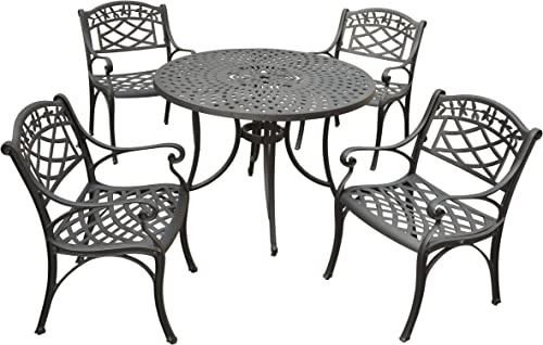 Crosley Furniture KOD6003BK Sedona 5-Piece Solid-Cast Aluminum Outdoor Dining Set