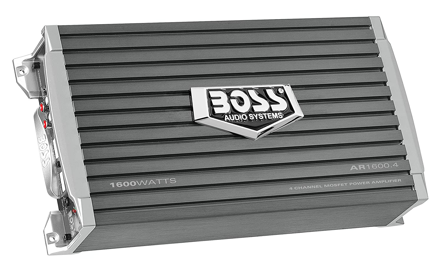 Boss Audio Ar16004 Armor 1600 Watt 4 Channel 2 Ohm Amplifier Stable Class A B Full Range Bridgeable Mosfet Car With Remote Subwoofer