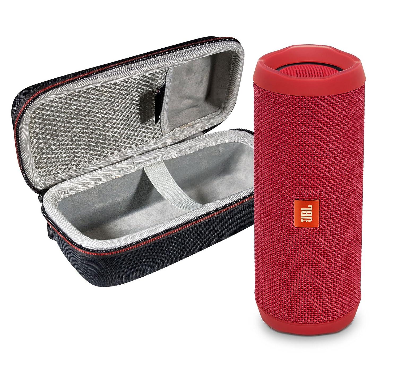 JBL Flip 4 Portable Bluetooth Wireless Speaker Bundle with Protective Travel Case - Black FLIP4-Black&PortableHardshellCase