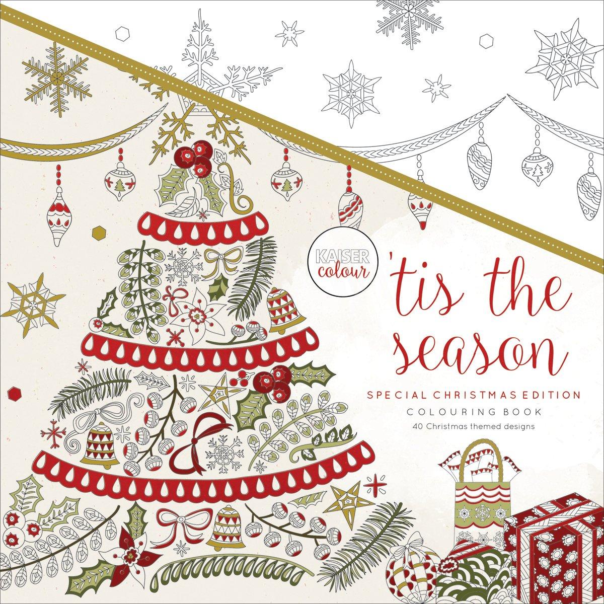 Kaisercolour Perfect Bound Coloring Book 9.75'X9.75'-'Tis The Season Christmas