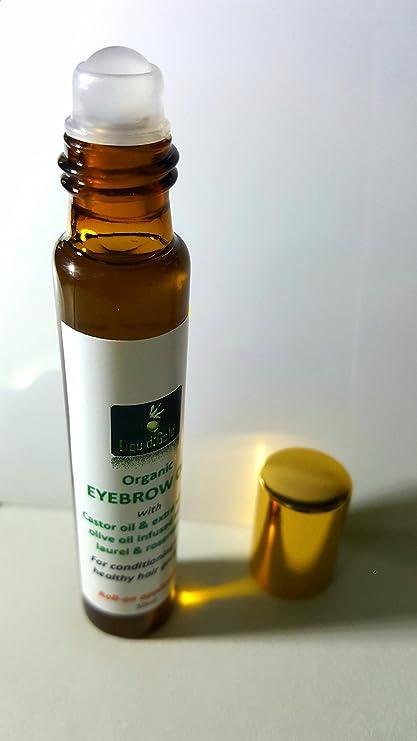 Cejas acondicionado aceite con aceite de ricino, aceite de oliva, Laurel y Romero –