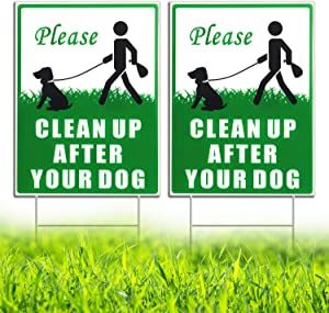 HISVISION Please Clean Up After Your Dog 2 Pack, 12