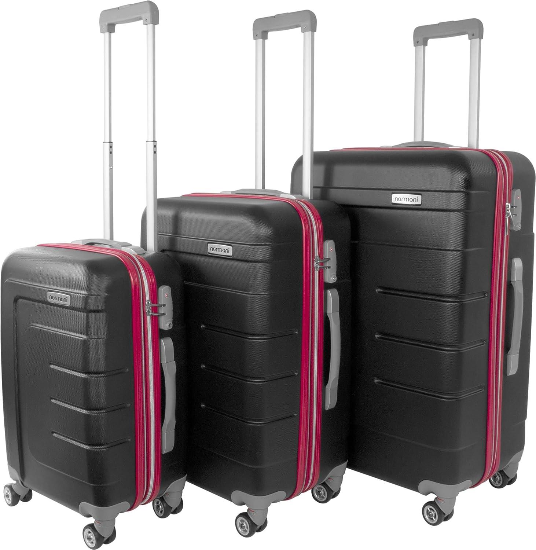 normani Hartschalen Kofferset New Generation mit TSA Zahlenschloss 3-tlg.