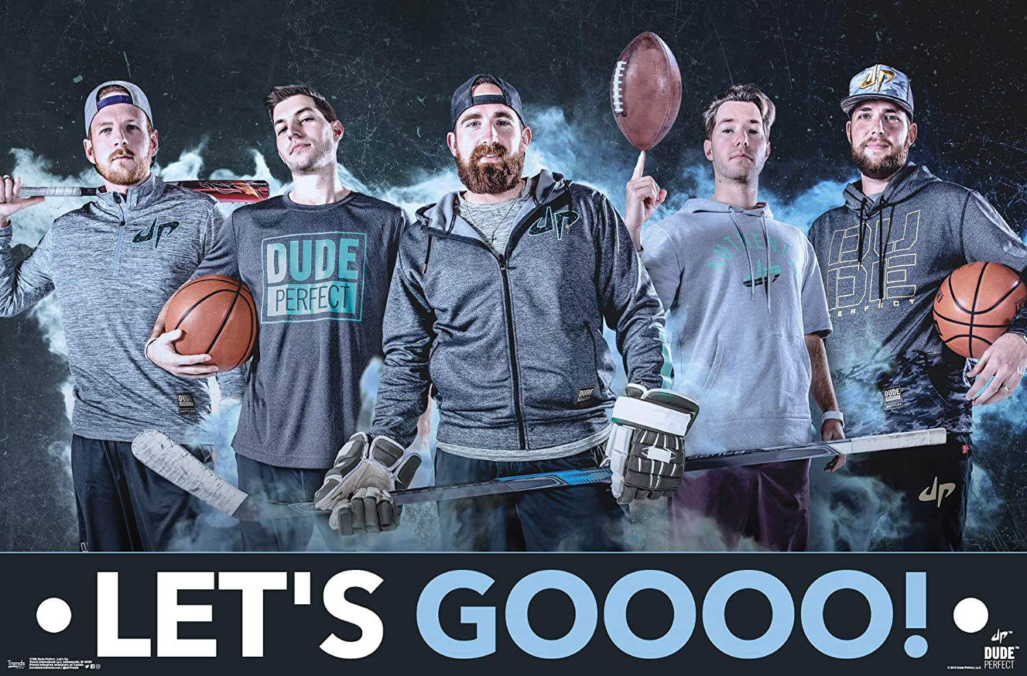 Amazon.com: Trends International Dude Perfect - Lets Go Wall Poster 22.375