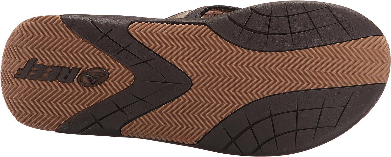 Dark Brown//Tan Reef Mens Flex Flip Flop 10