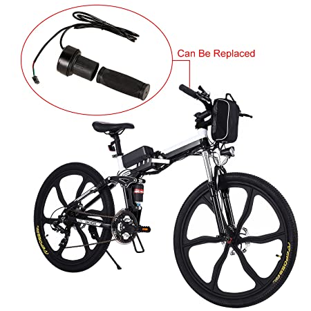 Tomasa Bicicleta de Montaña Eléctrica Plegable 26 Pulgadas 27 Velocidad con Batería de Lon de Litio (Tiempo de Carga Rápido de 4-6 Horas): Amazon.es: ...