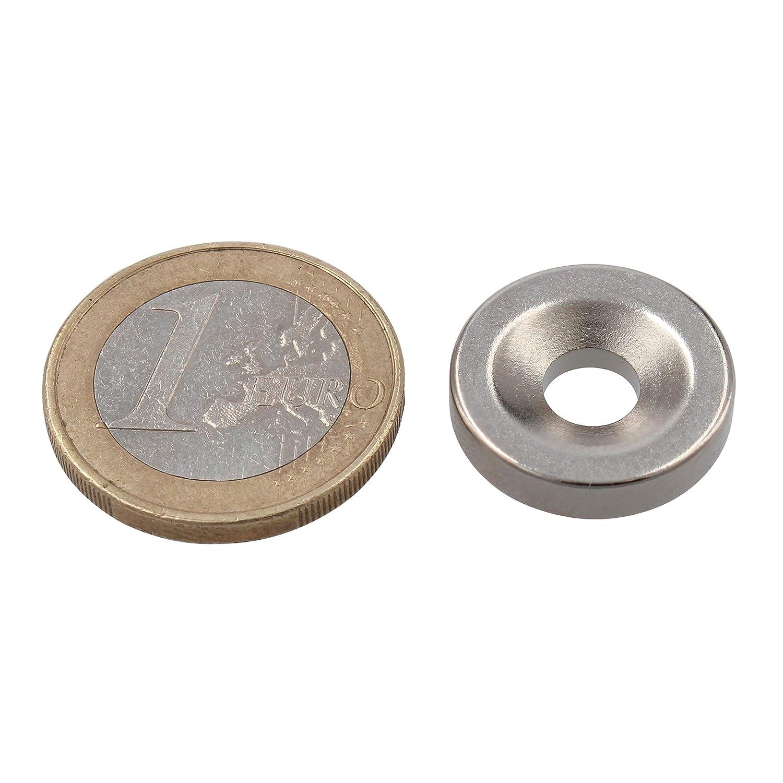 18 x 4 mm Ferrestock DC006 Runde Neodym-Magnete mit 6 mm Bohrung 10 St/ück