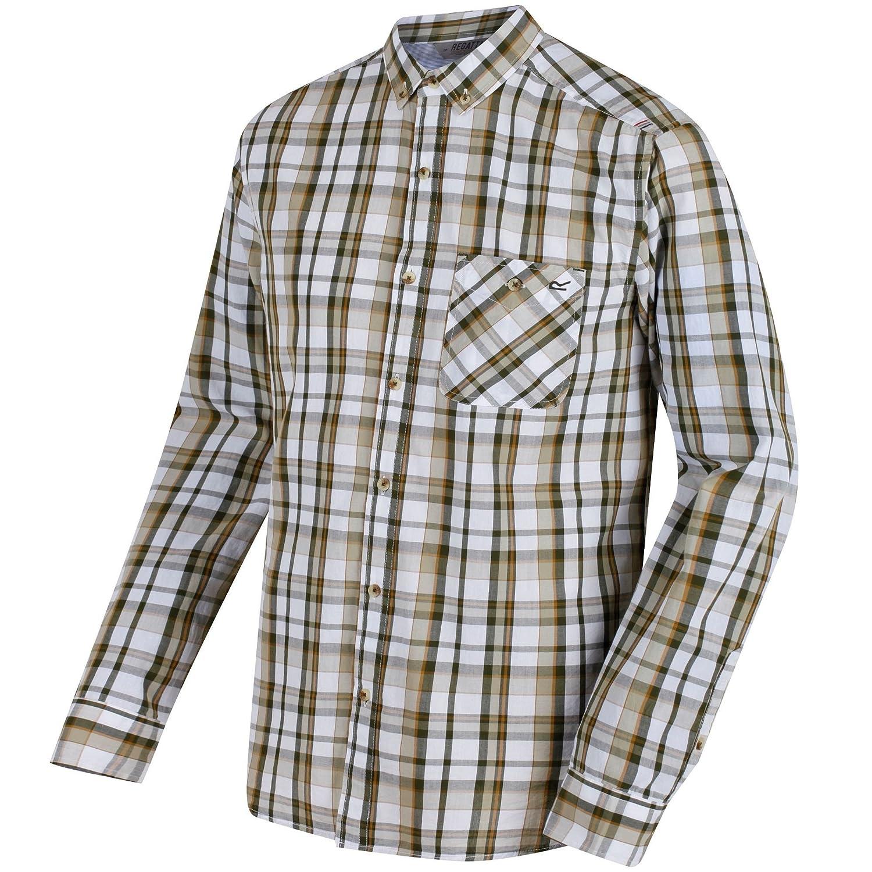 Ivy Ivy Ivy Green Regatta Great Outdoors Mens Bacchus Long Sleeve Shirt 5e7b19