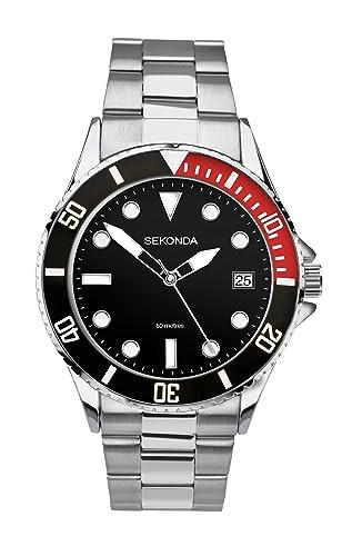 Sekonda 3078,71 - Reloj analógico de Cuarzo para Hombre, Correa de Acero Inoxidable Color Plateado: Sekonda: Amazon.es: Relojes