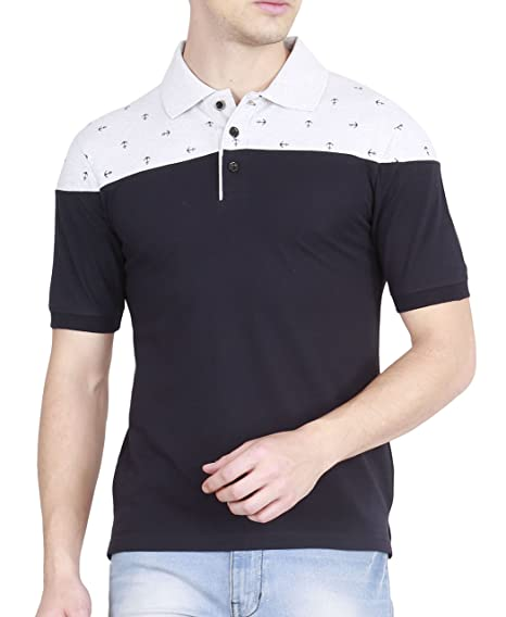bc0155f8db26 fanideaz Men's Cotton Anchor Printed Polo T Shirts for Men with Collar:  Amazon.in: Clothing & Accessories