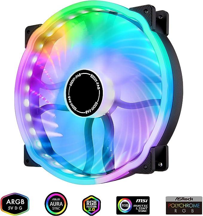 EZDIY-FAB 20cm Ventilador de la Carcasa de la Computadora RGB ...