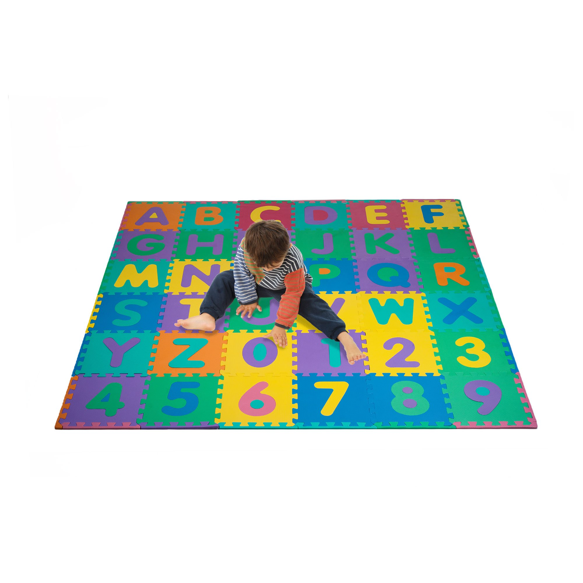 Foam Floor Alphabet and Number Puzzle Mat for Kids, 96-Piece by Hey! Play!