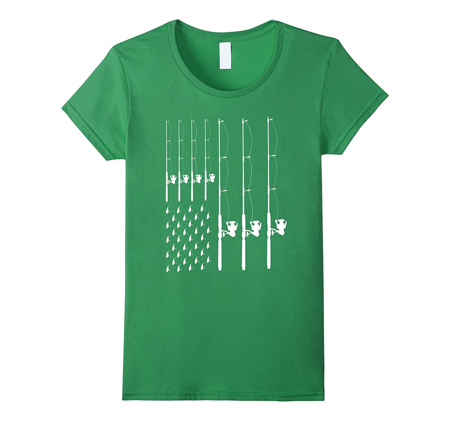 FISHING American Flag T Shirt Fishersman-Tovacu