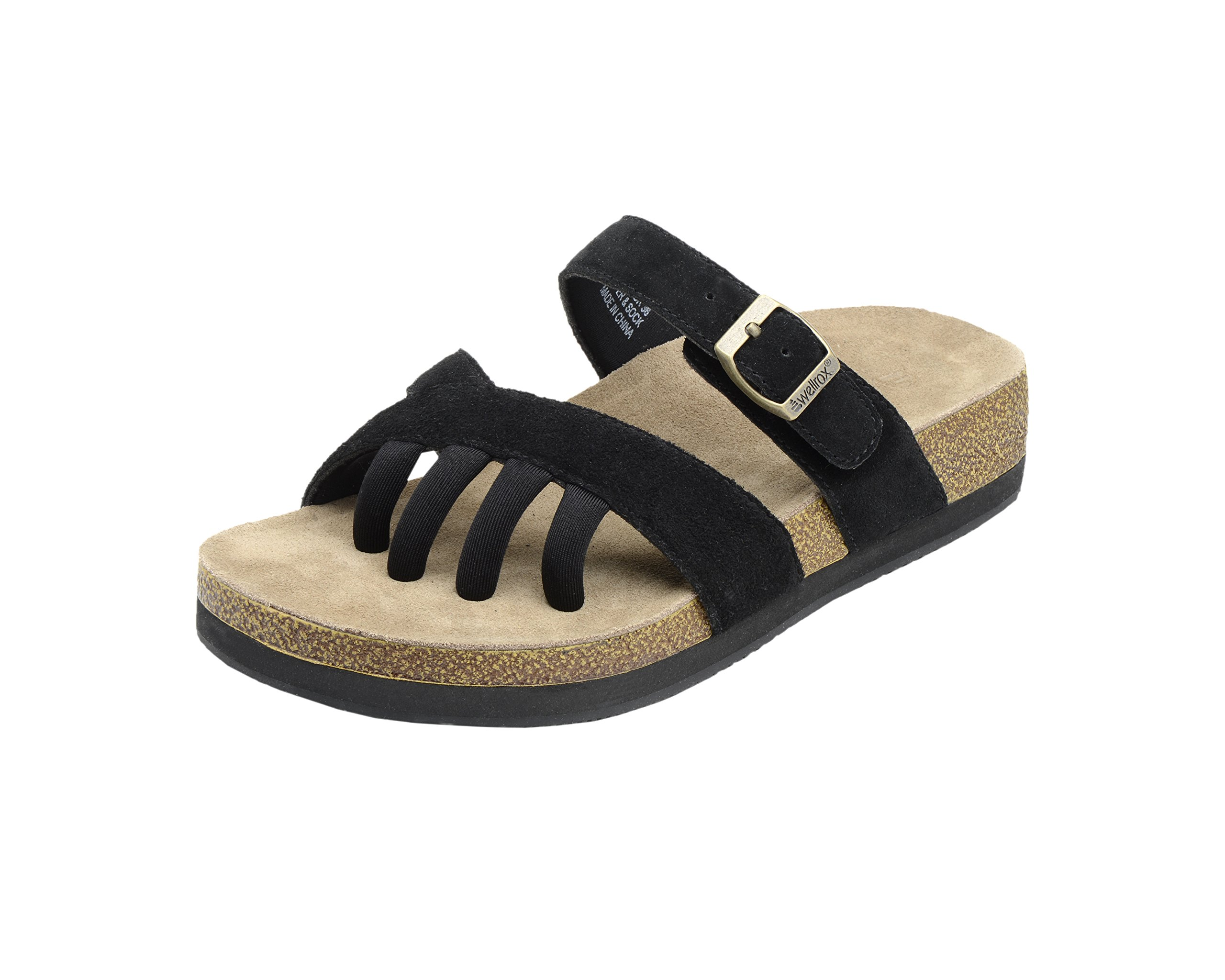Wellrox Women's Terra-Newport Black Casual Sandal 9