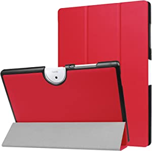 Acer Iconia One 10 B3-A40 Case, Ceavis PU Leather Ultra Slim Smart Stand Case Cover for Acer Iconia One 10 B3-A4010.1-Inch Android Tablet (Red)