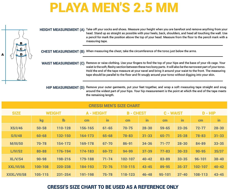 Muta da Immersione Uomo High Stretch Neoprene 2.5mm Cressi Playa Man