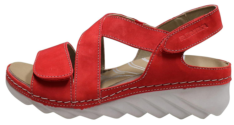 Romika Damen Salem Keilsandaletten Rot Gr. 37: Amazon.de: Schuhe ...